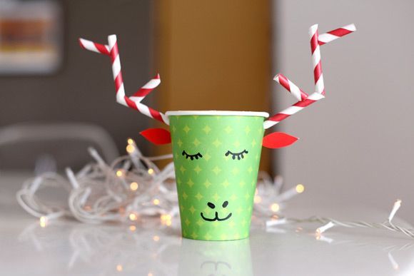 DIY Paper Cup Reindeer — a fun project for kiddos!