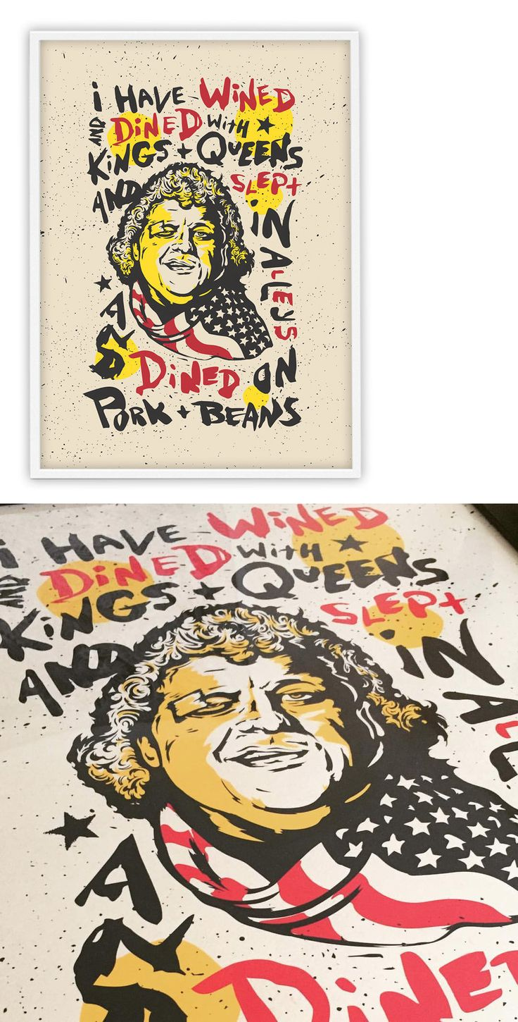 Wrestling 2902: Dusty Rhodes American Dream Screenprint Poster Numbered Wwe Wcw Nwa Ecw Roh -> BUY IT NOW ONLY: $30 on eBay!