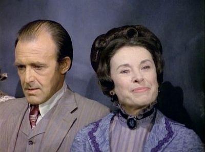 Katherine MacGregor and Richard Bull on Little House on the Prairie