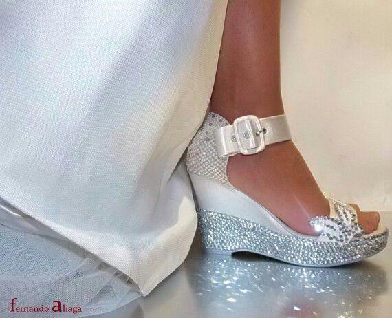 cuñas de novia.segundo zapato para tu boda.   wedding   pinterest