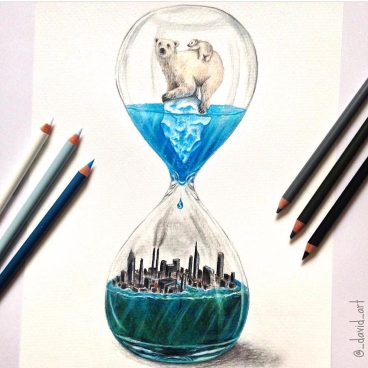 """Running Out Of Time"" a beautiful drawing by @_david_art #Designspiration #art - View this on http://ift.tt/1LVCgmr"