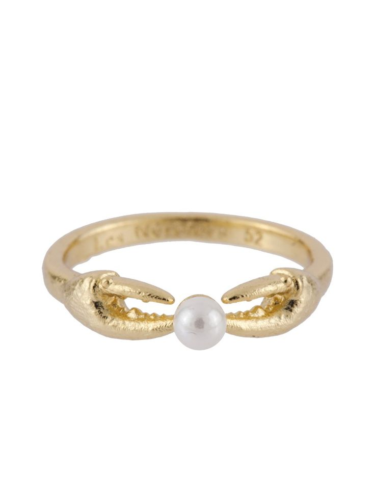 ATLANTIDE CRAB'S PINCERS AND PEARL RING