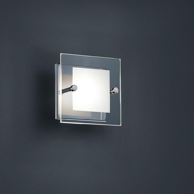LED-Wandlampe mit elegantem Glas und OSRAM-LED