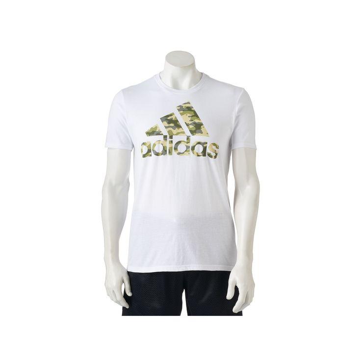Men's Adidas Camouflage Logo Tee, Size: Medium, White
