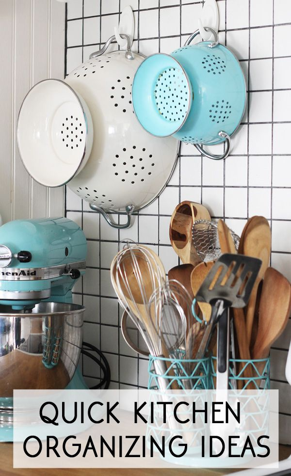 quick and easy kitchen organizing ideas