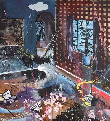CHERRY BLOSSOM 1 - Dan Baldwin. Represented by Maddox Gallery, Maddox St, Mayfair , London 0207 870 7622 www.maddoxgallery.co.uk