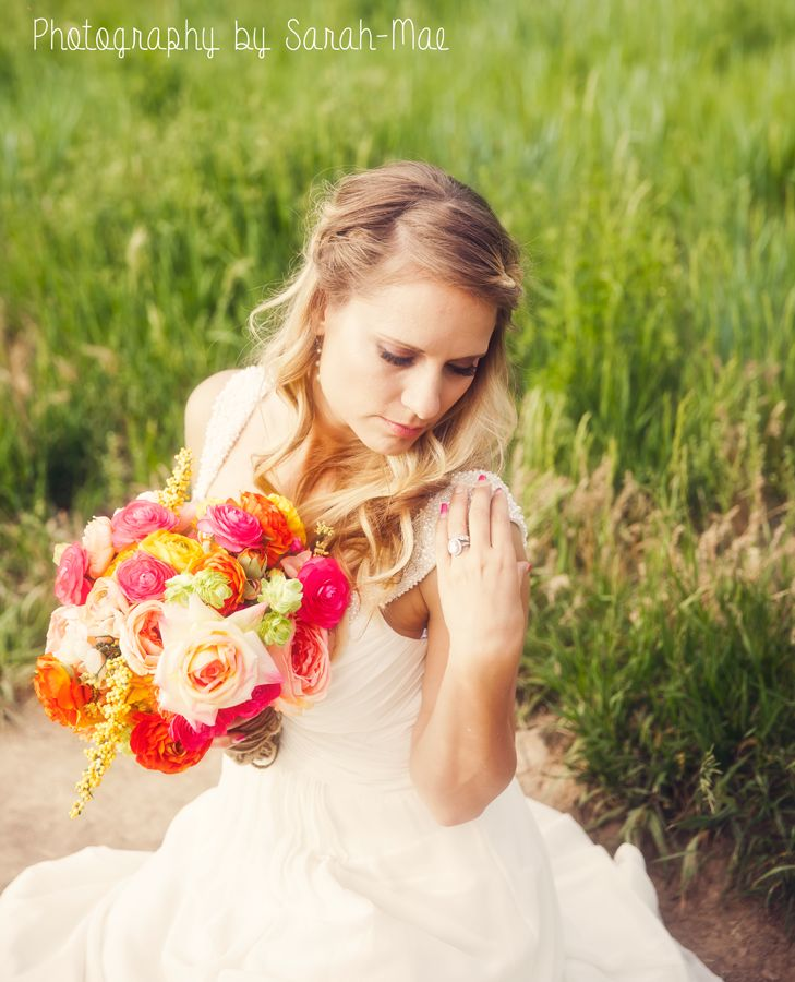 Photography by Sarah Mae - Weddings Bridal Pose outdoor photography