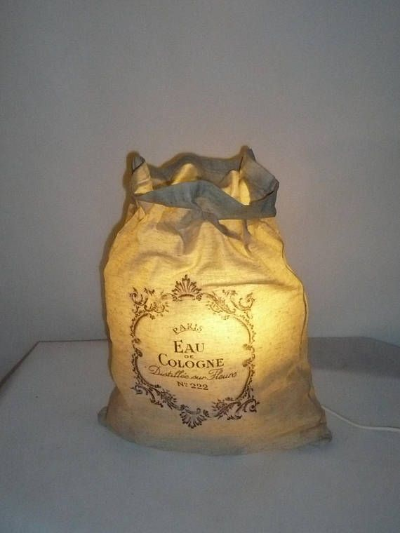 lampe sac shabby chic