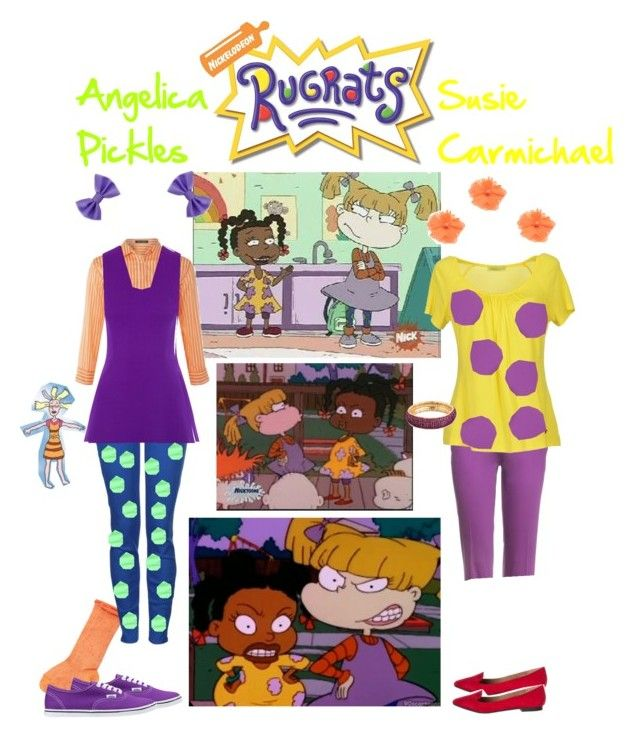 """Rugrats-Angelica and Susie"" by blessingfan13 ❤ liked on Polyvore"