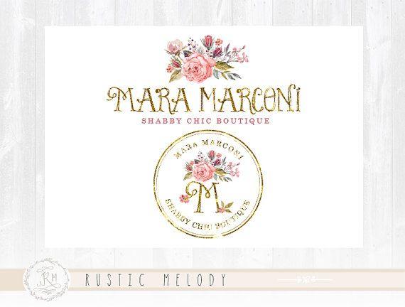 Floral Logo Events Logo Photography Logo Design Boutique Logo Watercolor Logo Decor Logo Design Watermark