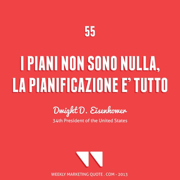 Citazione sul Marketing 55: Dwight D. Eisenhower - Weekly Marketing Quote