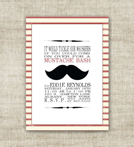 123 best Mustache Bash images on Pinterest Birthdays Birthday
