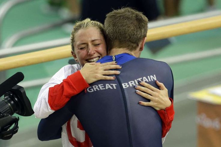 20 of the best hugs of the 2016 Olympics: August 17, 2016 - 18. We're both really great cyclists hug - Laura Trott, left, hugs her fiance Jason Kenny, right, both of Britain, after he won the men's keirin cycling final.
