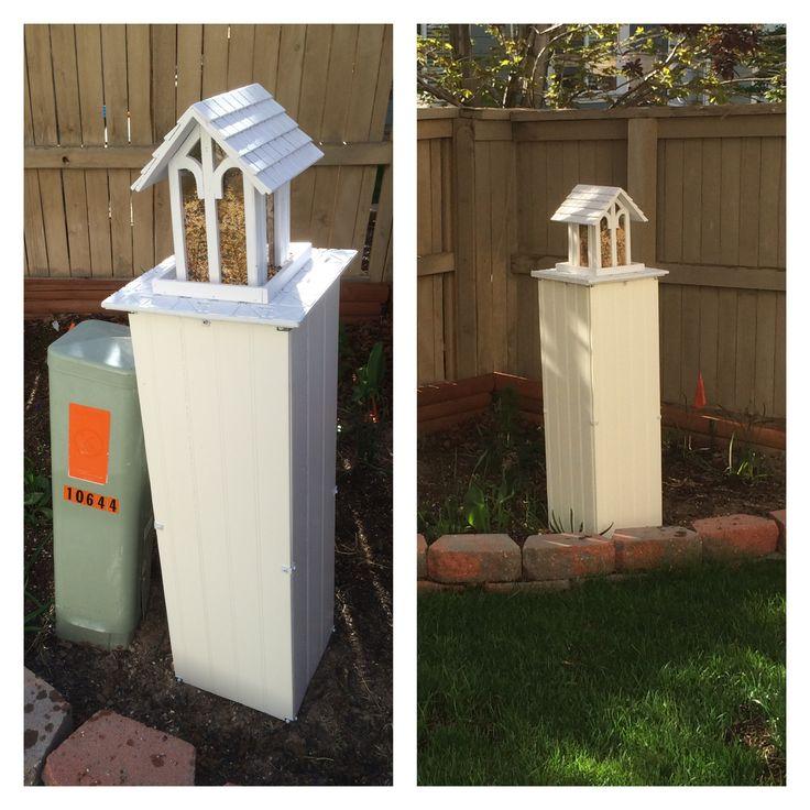 Utility box cover landscape ideas pinterest pump for Landscape rock utility cover