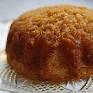 Golden Syrup Sponge Cake - This sticky dessert, sometimes called treacle sponge, is as at home in an English pub as it is at an elegant dinner, like the ones held at Formal Hall. It's traditionally baked or steamed in a pudding basin—an aluminum or earthenware bowl designed specifically for pudding—but any sturdy 3-cup ovenproof bowl will do. http://www.saveur.com/article/Recipes/Golden-Syrup-Sponge-Cake