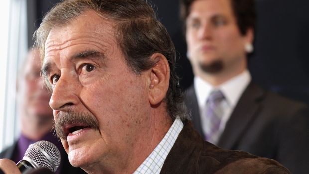 """Former Mexican President Mexico Vicente Fox says Donald Trump's plan to tear up NAFTA would have dire consequences for Mexico and Canada, calling it a """"stupid"""" idea."""