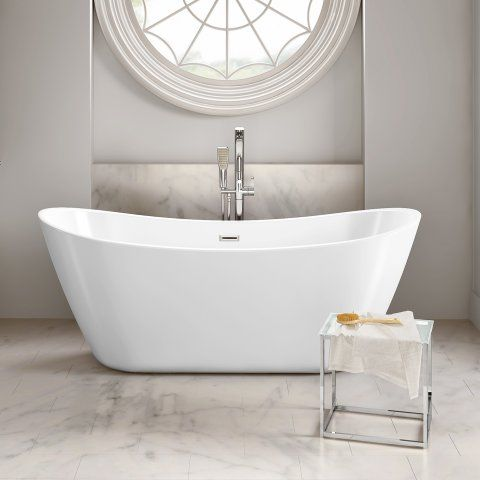 1830mm x 710mm Caitlyn Freestanding Bath - soak.com