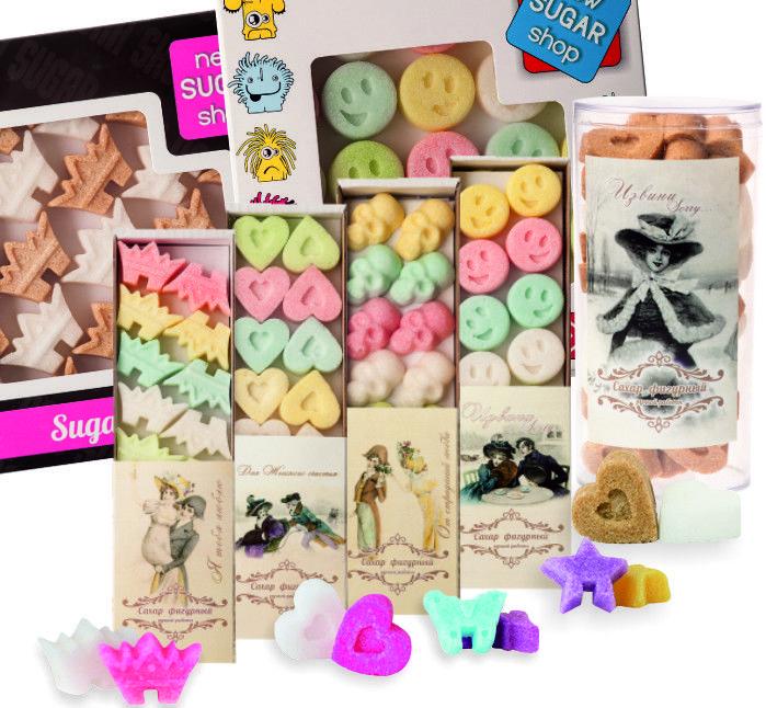 Цветной фигурный сахар «НЬЮ ШУГА ШОП»   New SUGAR shop