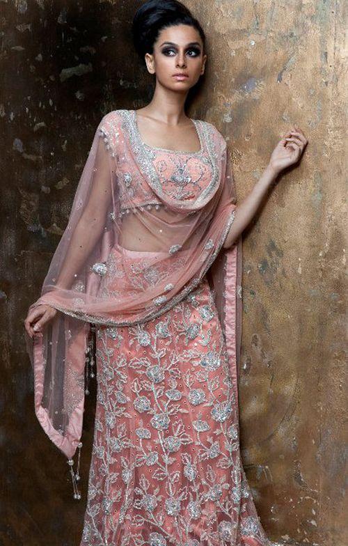 Light Pink Indian #Wedding #Bridal #Lehenga.