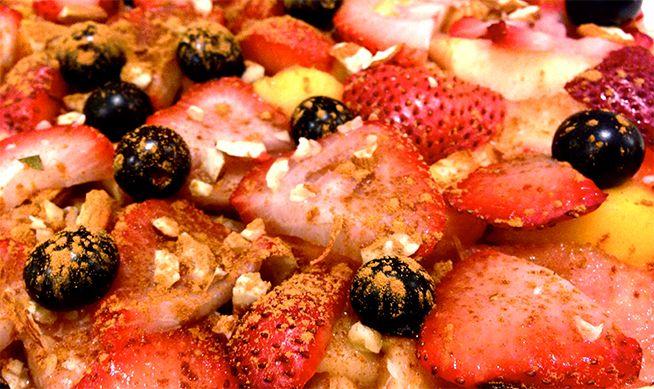 Smart Sweet: Summer Fruit Bake   Recipe   Good source of fiber, Banana ...