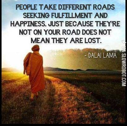 Different roads.