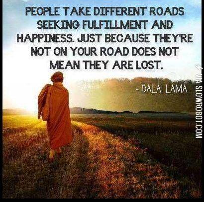 Different roads.