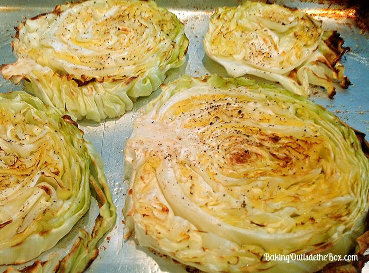 Grilled Cabbages, Baking Sheet, Grease Baking, Cooking Cabbages ...