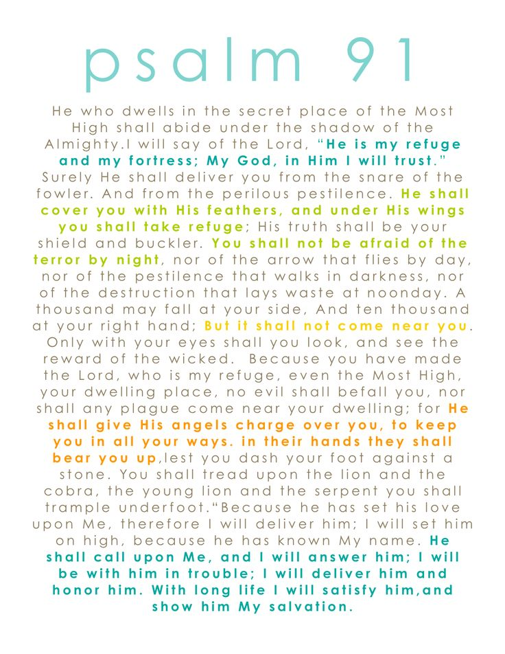 psalm 91 | Wall Art: Tutorial