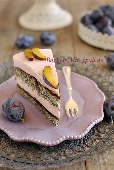 Mohn-Zwetschgen-Torte/ Poppy plum cake the site is in German but if you have Google Chrome it will translate it automatically.