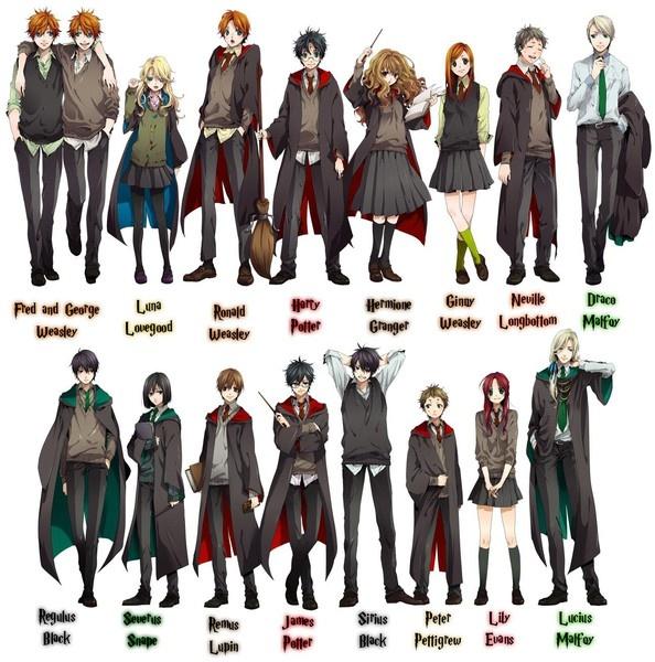 Anime Harry Potter mirandor