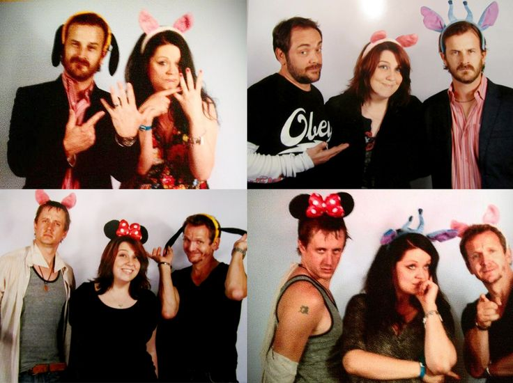 Richard Speight Jr, Mark Sheppard, Chad Lindberg and Sebastian Roche in Paris, June 2013.