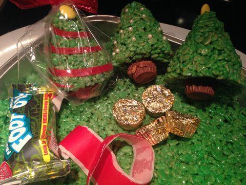 Des sapins de Noel en Rice Krispies