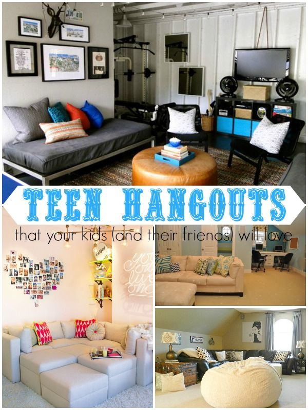 Ten Teen Hangout Areas Your Kids (and their friends) Will Love via Remodelaholic.com #teens #tweens #hangout #teenspace