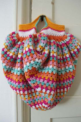 granny square bag crochet
