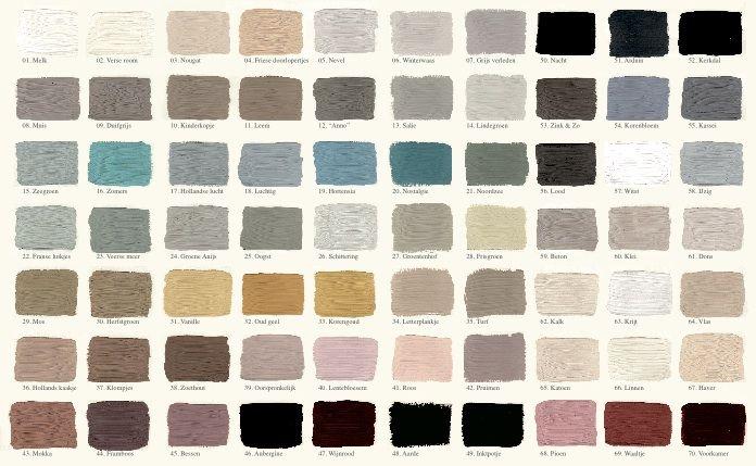 GK - L' Authentique   kleurenkaart