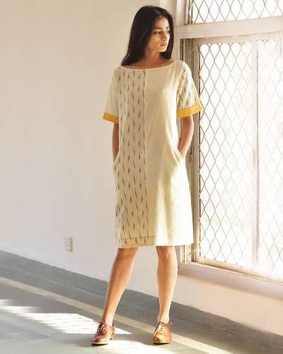 Mix And Match Shift Dress I Shop at :http://www.thesecretlabel.com/khara-kapas
