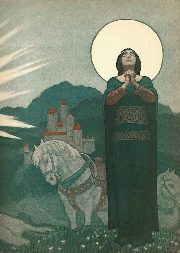 NC Wyeth illustration for the Legend of Charlemagne by Thomas Bulfinch, 1863