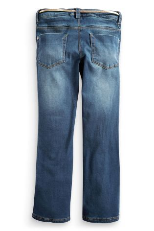 Buy Authentic Wash Boot Cut Jeans With Belt (3-16yrs) online today at Next: Belgium