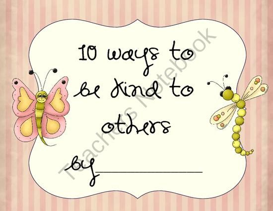 10 Ways to Be Kind to Others from AJ Bergs on TeachersNotebook.com -  - This is a book about ten ways to be kind to others.