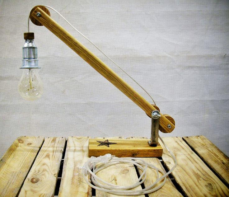 Mini-Lift Lamp Oak&Steel