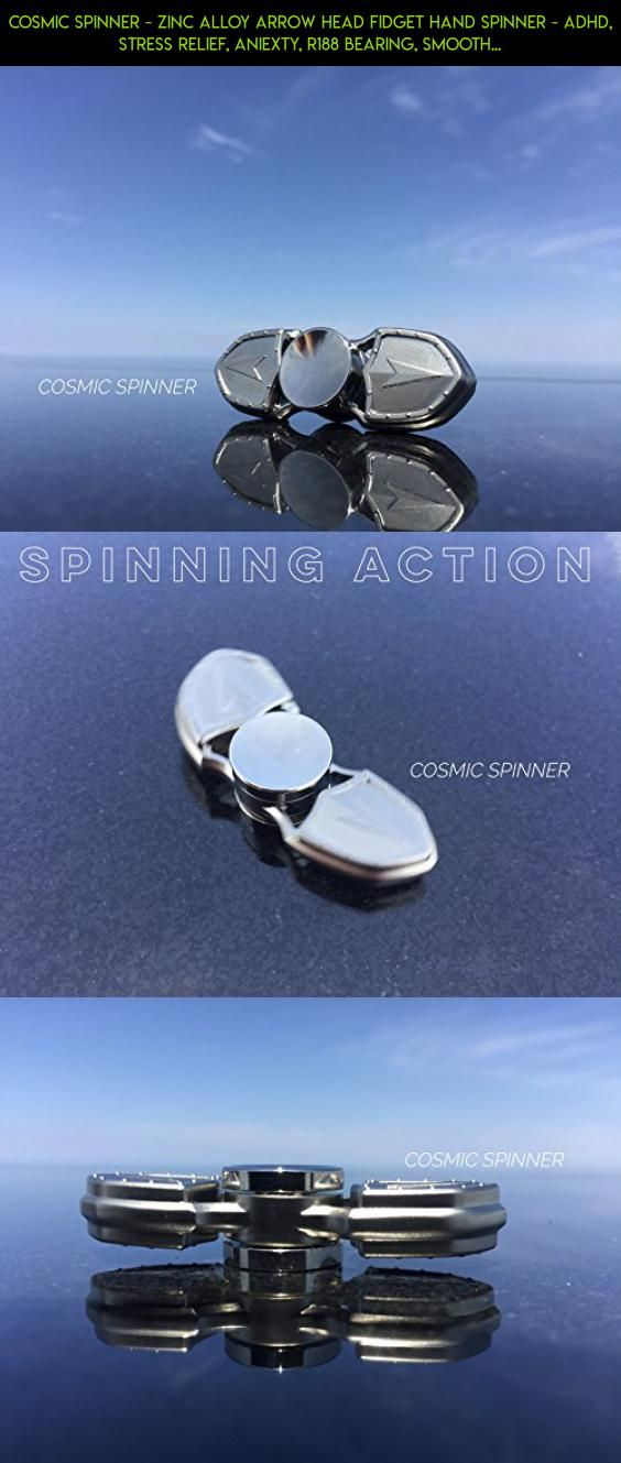 Cosmic Spinner - Zinc Alloy Arrow Head Fidget Hand Spinner - ADHD, Stress Relief, Aniexty, R188 Bearing, Smooth spin, Spin time 2-3 Minutes (Medieval Silver) #spinner #tech #technology #shopping #drone #fpv #gadgets #kit #camera #products #medieval #metal #plans #racing #parts