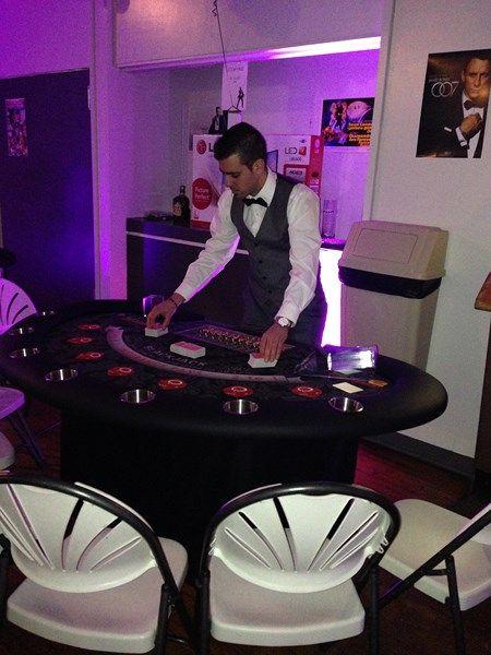 Our blackjack dealer for the night!