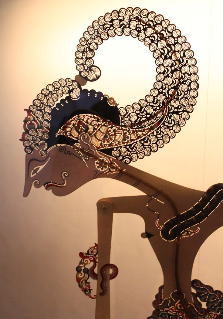Just one of Wayang kulit figure, Indonesia