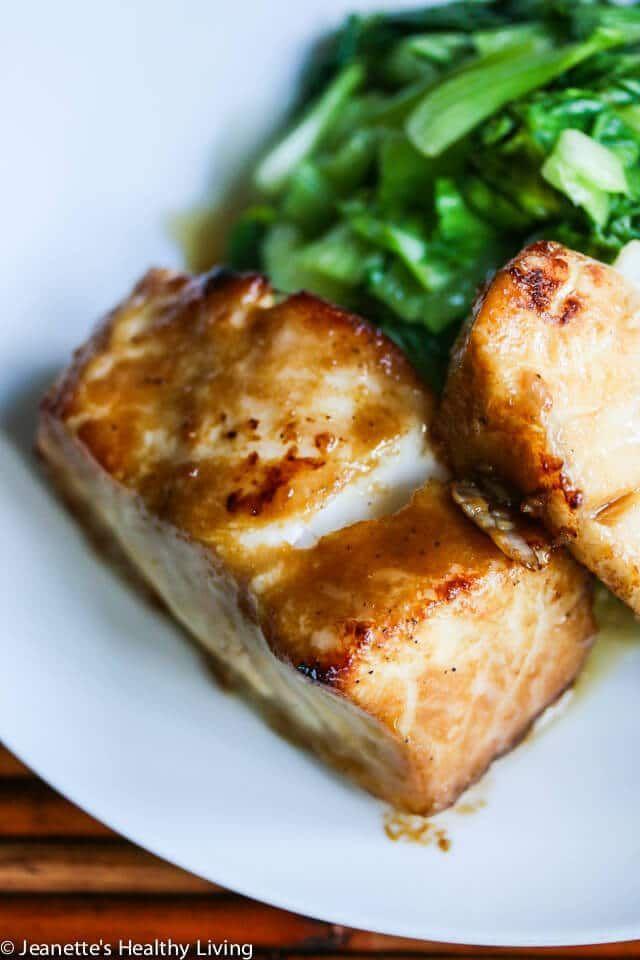 Miso Glazed Chilean Sea Bass Recipe ~ http://jeanetteshealthyliving.com