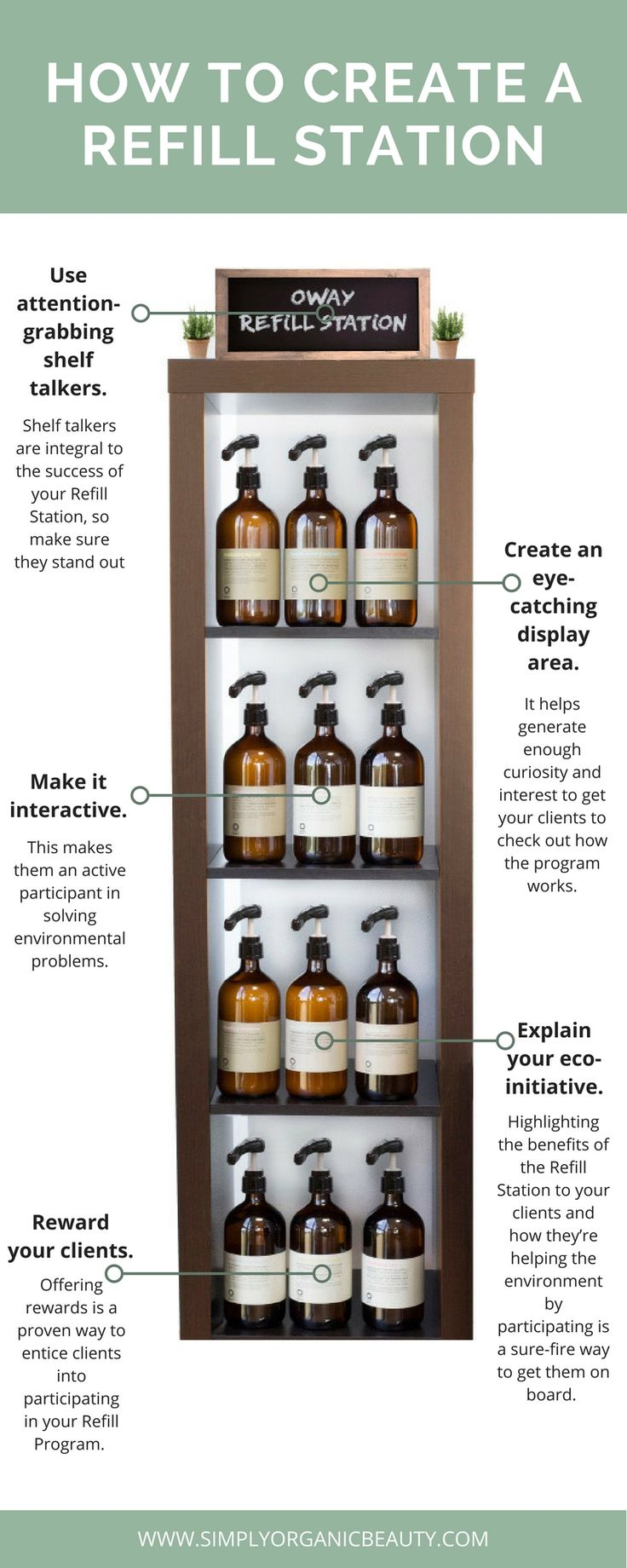 We LOVE our Salon's Refill Product Program! It benefits our clients, salon business and the planet. #EcoSalon #SimplyOrganicBeauty #Oway