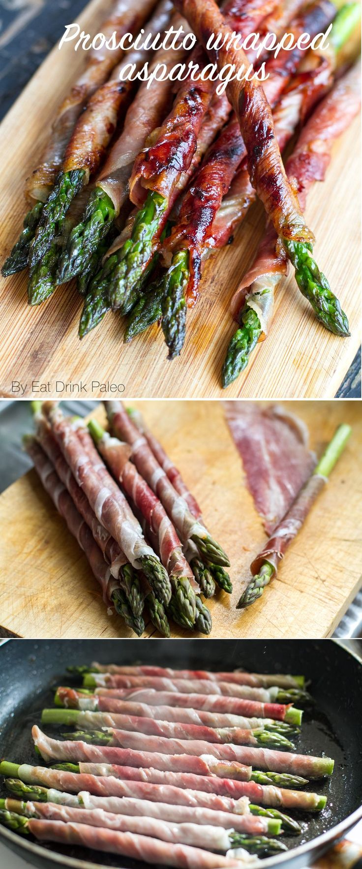 One of my favourite grilled asparagus recipes is prosciutto wrapped asparagus spears. Great finger food for parties and a fun and easy way to cook asparagus.