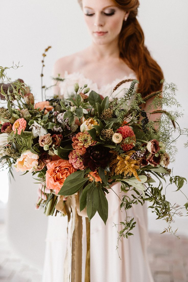 wild organic bouquet - photo by Lindsay Hackney Photography http://ruffledblog.com/the-ultimate-garden-lover-bridal-inspiration