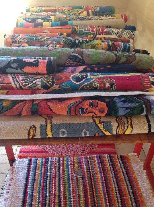 Some of our tapestries. Shop more at www.thekraalgallery.com