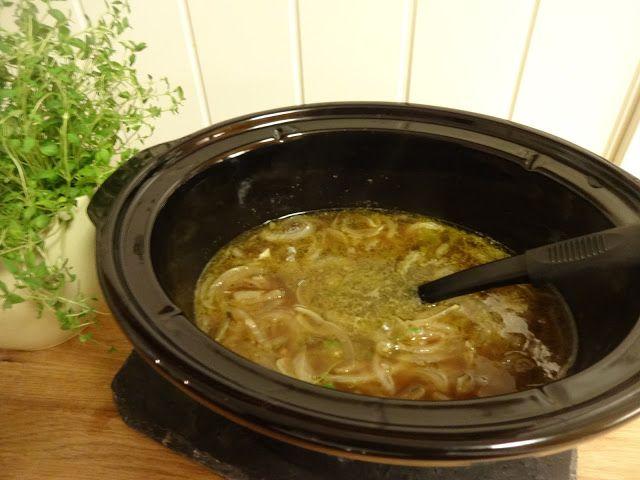 Edel's Mat & Vin : Fransk løksuppe i Crock-Pot med ostesmørbrød ♥