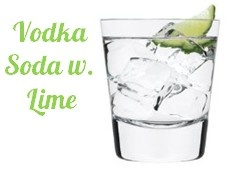 Vodka soda with lime is the perfect drink to get a buzz without any added sugar, carbs, or calories. One drink has 97 calories, ALL from the vodka. No carbs.